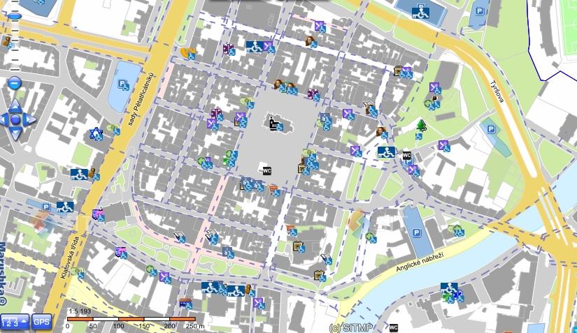 Bezbariérové mapy měst