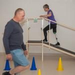 Cvičení bez protézy a s protézou