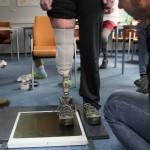 Statická zkouška zkušební protézy