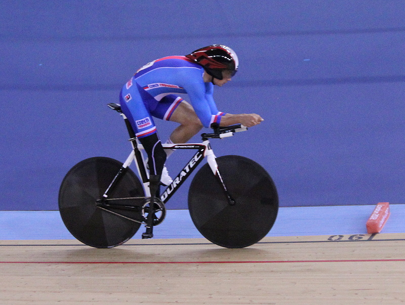 Těsně před cílem na paralympiádě v Londýně 2012.