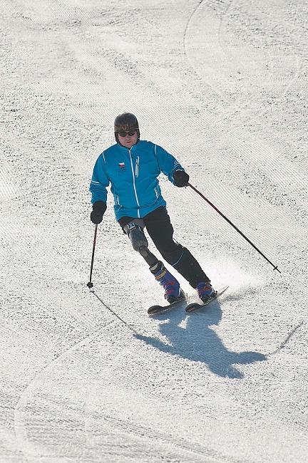 S protézou normálně lyžuju.