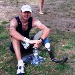 Triatlonový ironman bez nohy