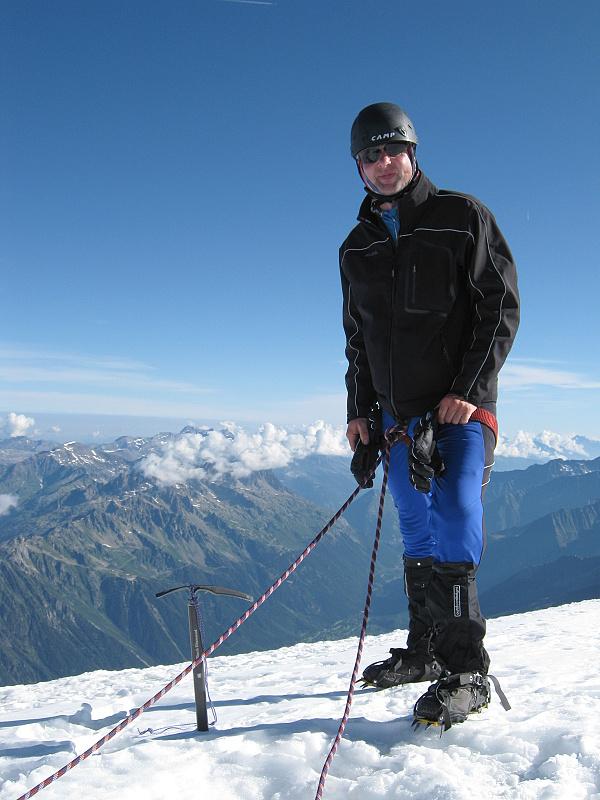 Mont Blanc byl pokořen v sobotu 17.8.2013 v 7 hodin ráno.