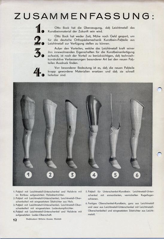 Z knihy o výhodách výroby standardizovaných dílů plechových protéz, 1941.