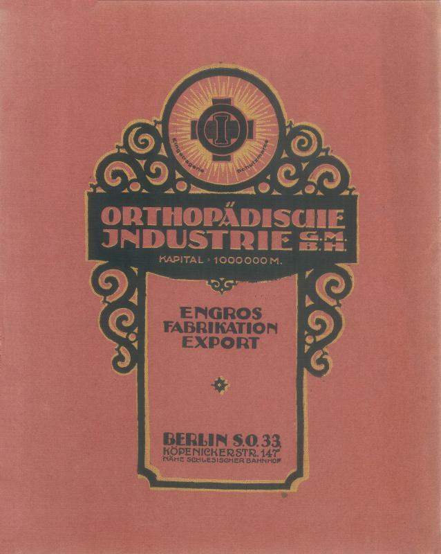 Obálka katalogu společnosti, 1919.