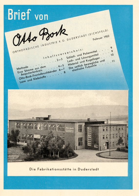 Obálka pravidelného Dopisu od Otto Bocka, 1952.