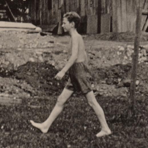 Snímek z nafilmované studie pohybu z 30. let