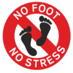 No foot, no stress!