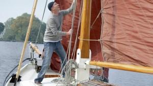 Muž s Tritonem na člunu.