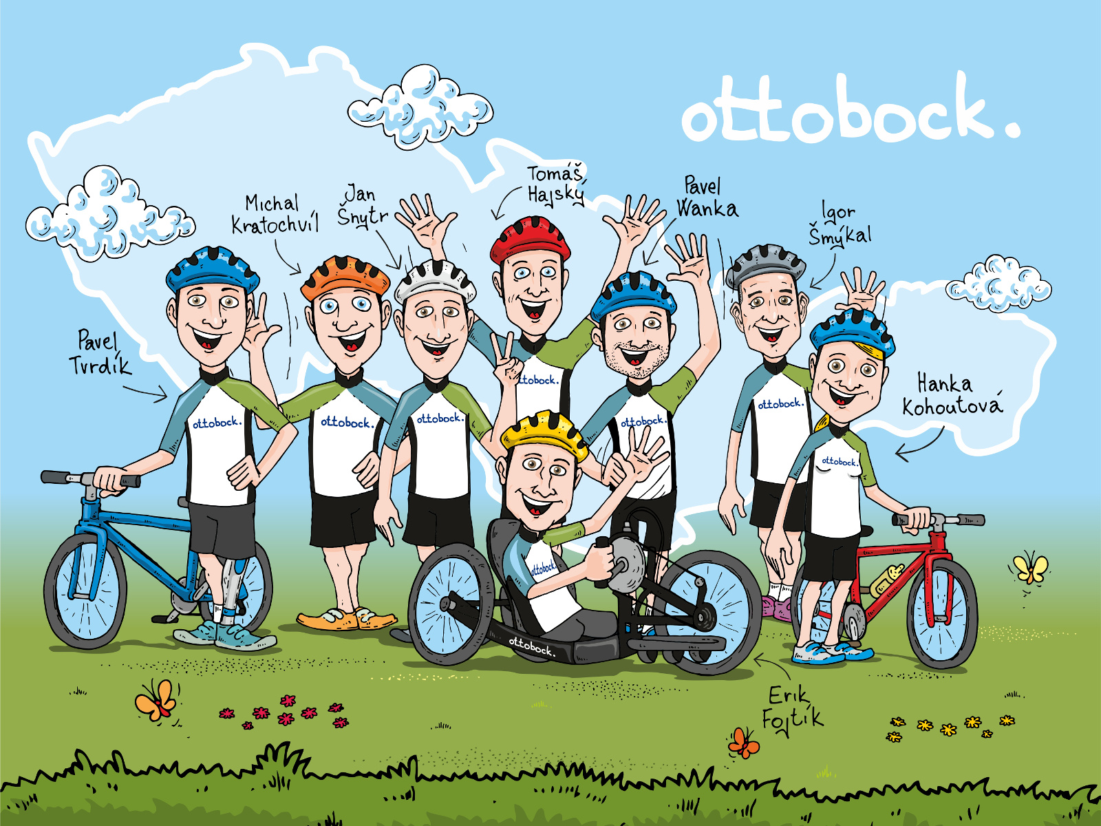 Ottobock tým - Handy cyklo maratón 2016