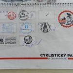 Razítka v našem cyklistickém pasu - etapa Česvenohorské sedlo - Bratislava