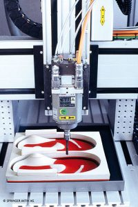 Springer vložky CNC fréza