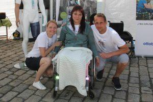 Rekordu se účastnila i naše kamarádka Renča, pro kterou jedeme letošní Metrostav Handy Cyklo Maraton.