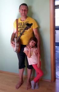 Pacel Fiala s dcerou