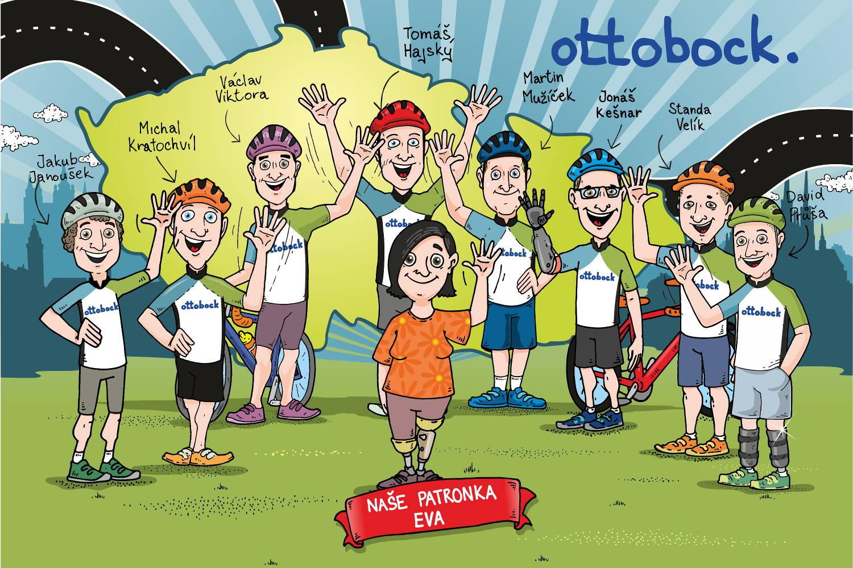 Ottobock tým pro Metrostav Handy Cyklo Maraton 2019