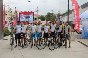 Ottobock tým před startem Metrostav Handy Cyklo Maraton 2019