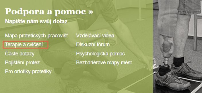 Terapie a cvičení