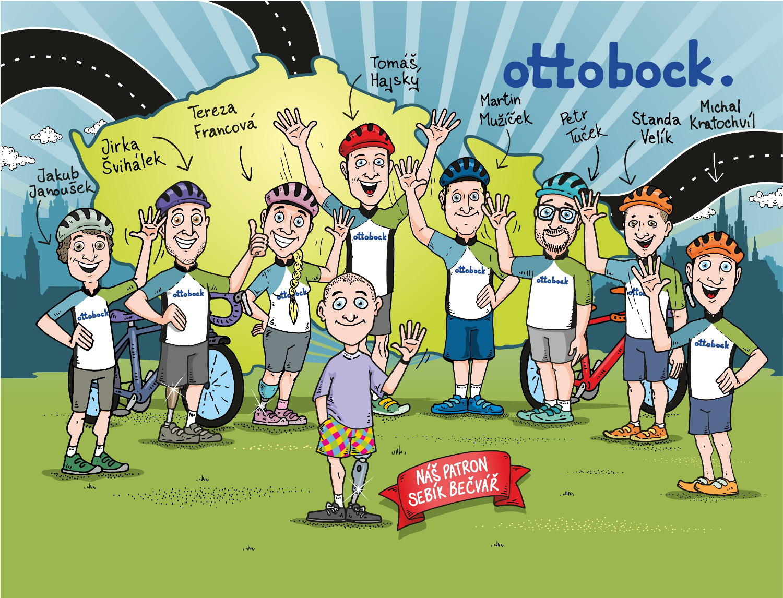 Ottobock tým pro Metrostav Handy Cyklo Maraton 2020