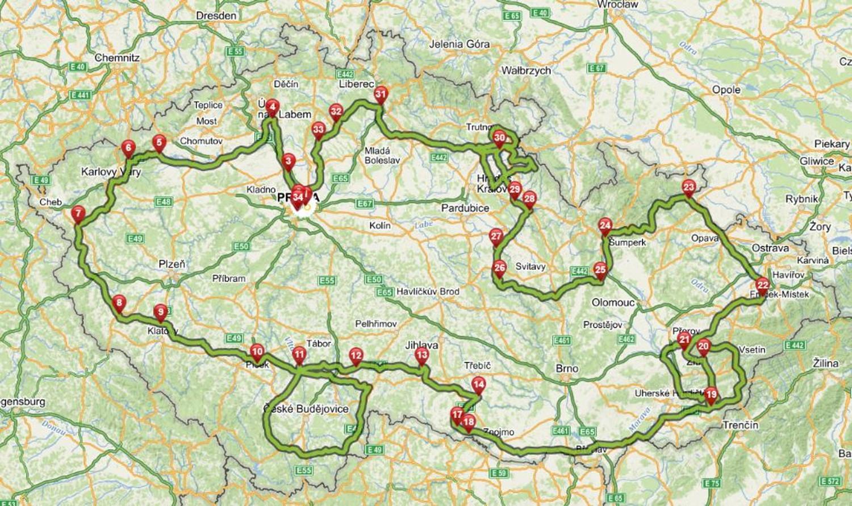 Mapa trasy HCM 2020
