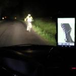 23. Ukázka noční jízdy – nic neříkající fotka, jinou ale nemáme.