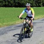 40. Na fotce to vypadá, jako by Terka měla na kole pořád strach, což sama okamžitě potvrzuje.