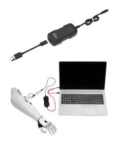 USB nabíječka pro bionická kolena, ruce i ortézy